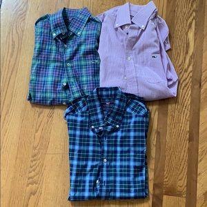 Bundle of Three Vineyard Vines Shirts